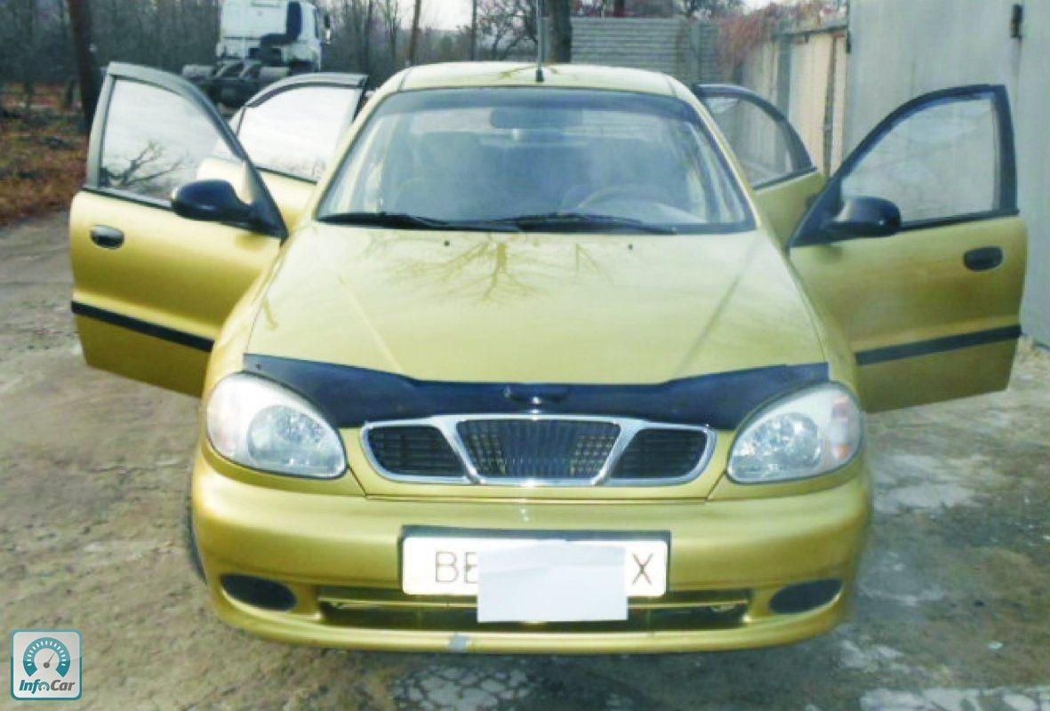 chevrolet lanos 2008 золотого цвета